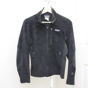 Patagonia R Fuzzy Teddy Zip Fleece Jacket Black